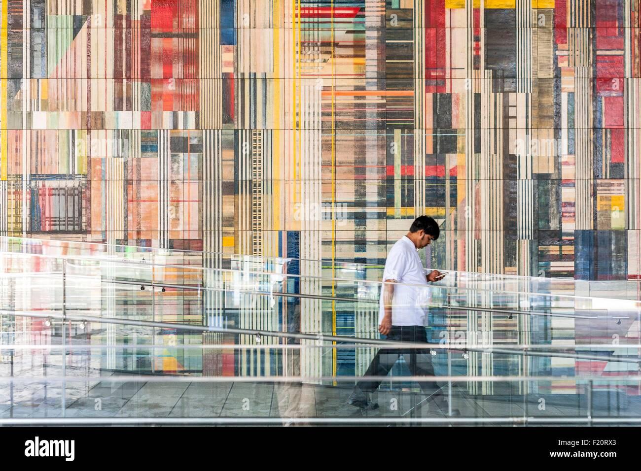 Corea del Sud di Seul del quartiere di Gangnam, Teheranno, vicolo pedonale Immagini Stock