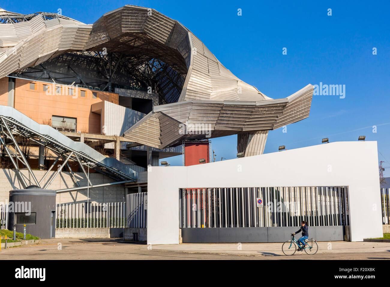 L'Italia, Lombardia, Milano, Piazzale Lotto FieraMilanoCity costruito negli anni ottanta Immagini Stock