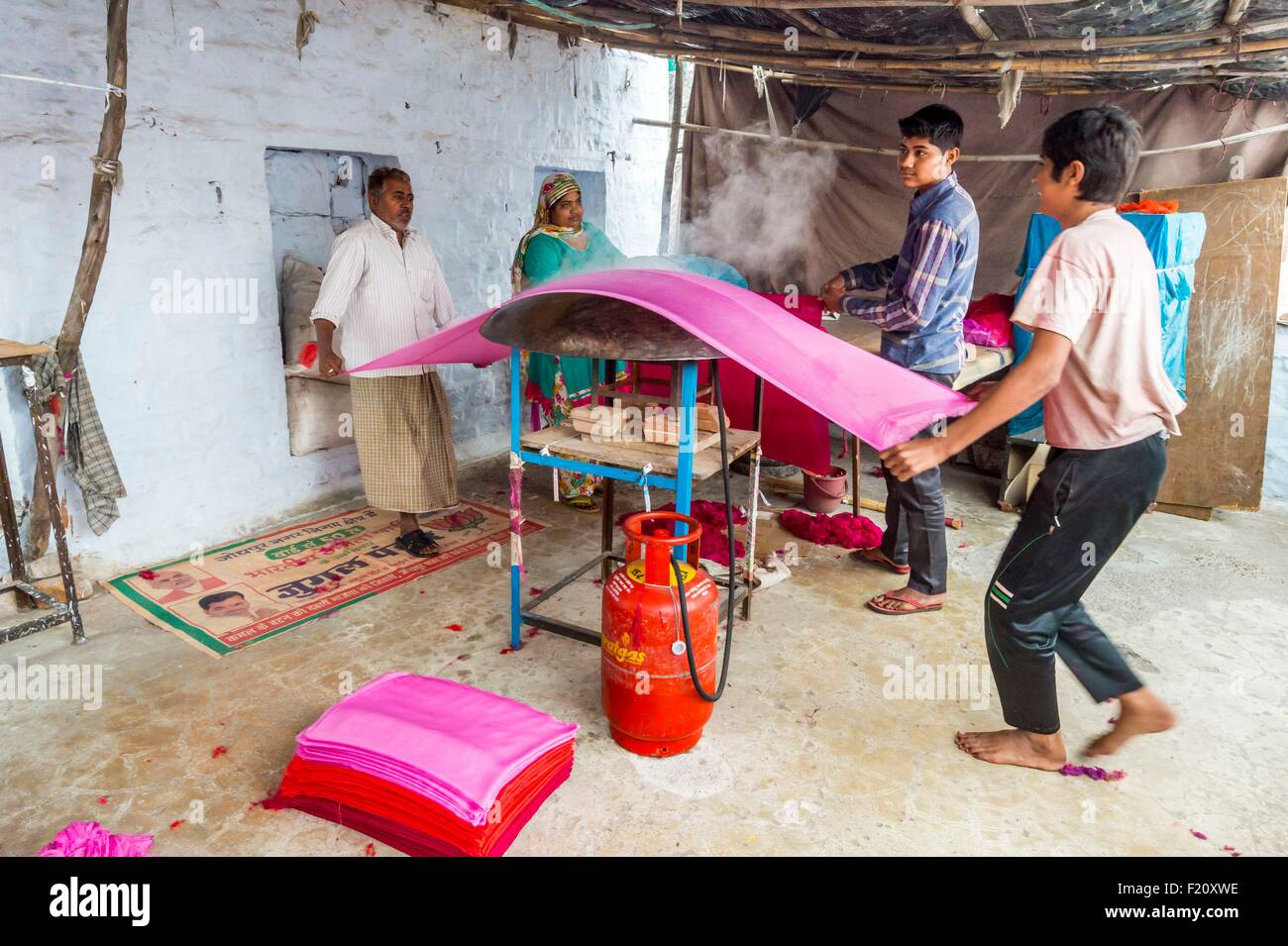 India Rajasthan, Jodhpur, l'area morente Immagini Stock
