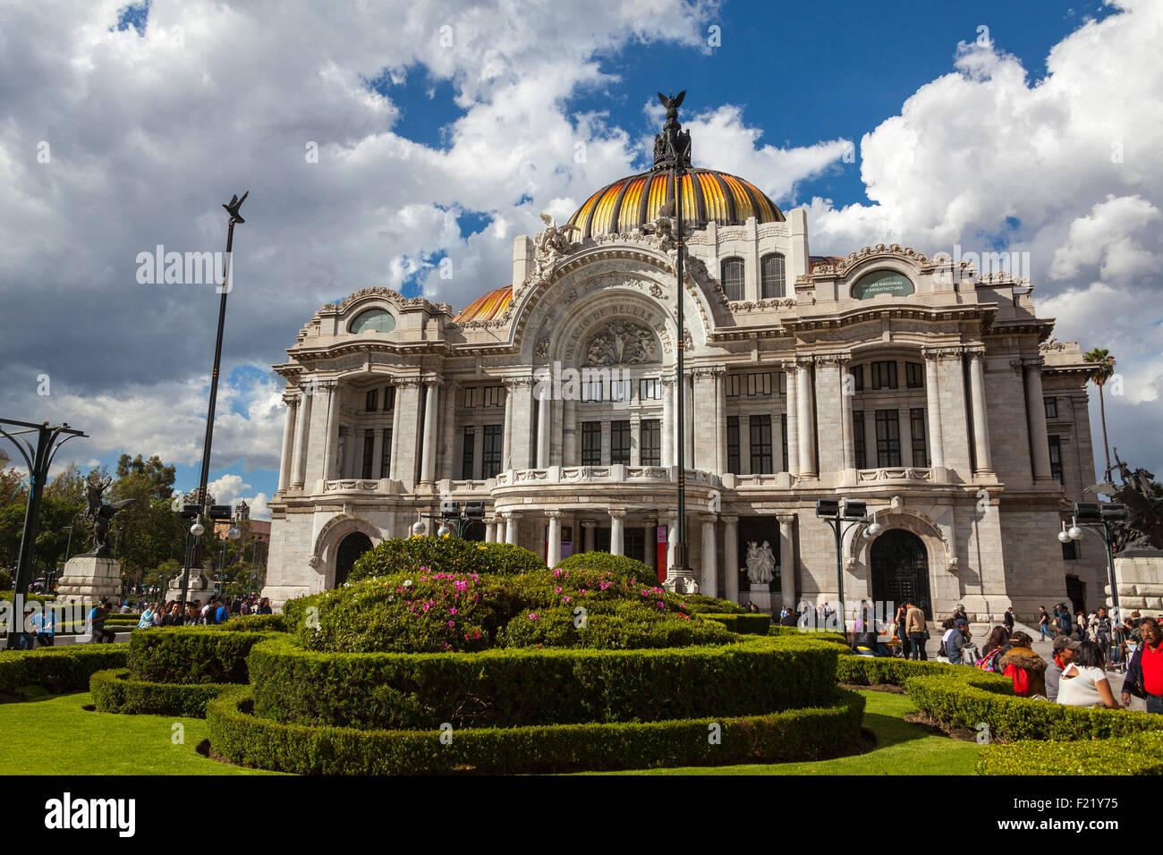 Palacio de Bellas Artes Art Museum e il teatro lirico di Città del Messico Distretto Federale DF America del Immagini Stock
