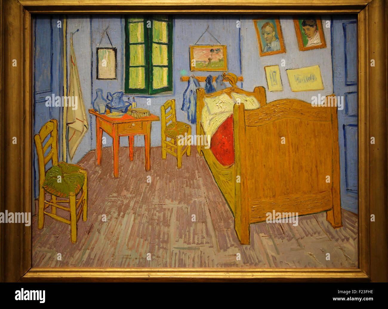 Camera da letto di Arles di Vincent van Gogh, Musée d\'Orsay, Parigi ...