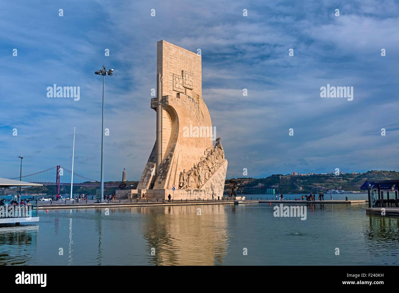 Il Monumento delle Scoperte, Belem Lisbona Portogallo Immagini Stock