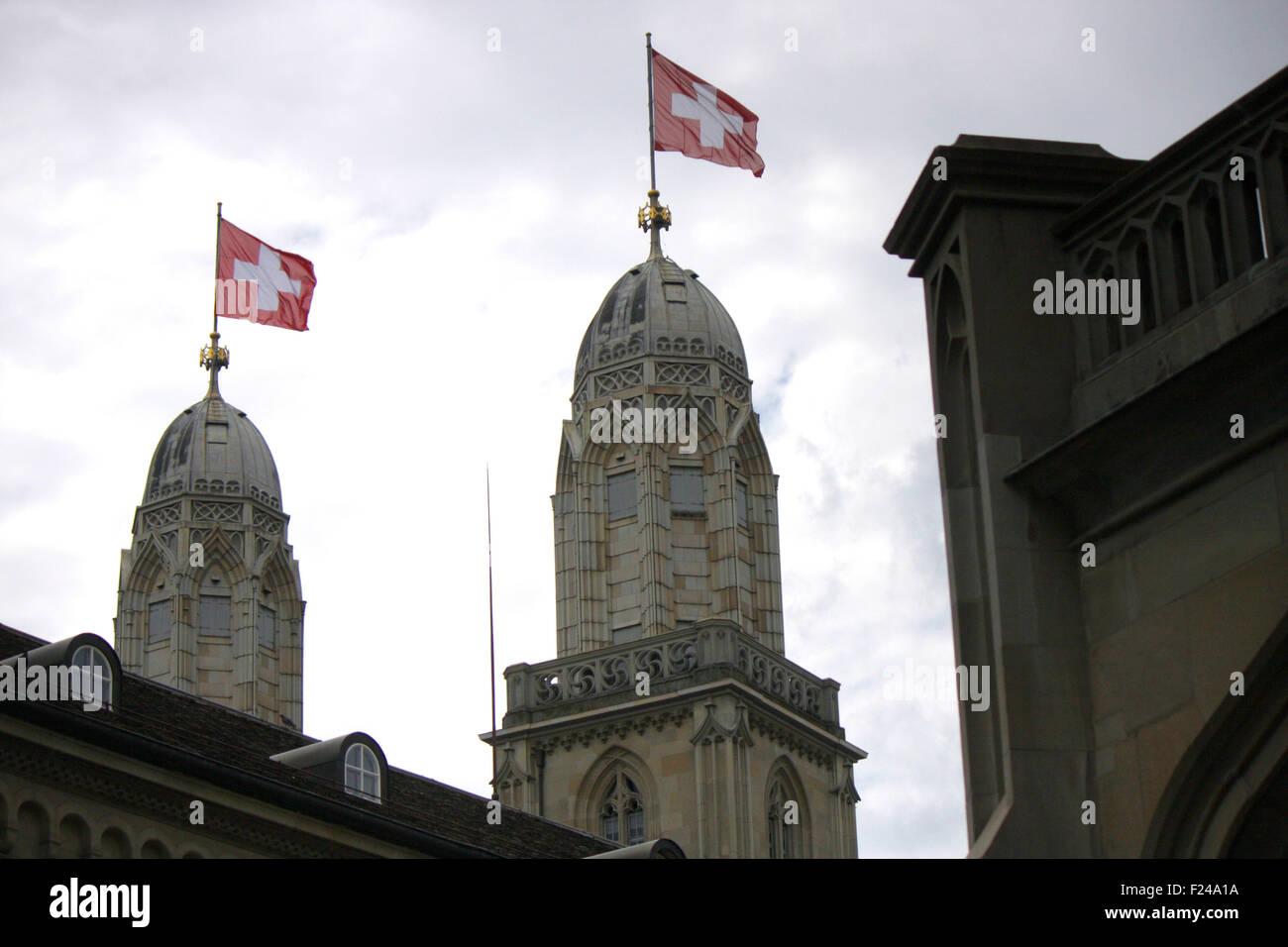 , Grossmuenster Zuerich, Schweiz. Foto Stock