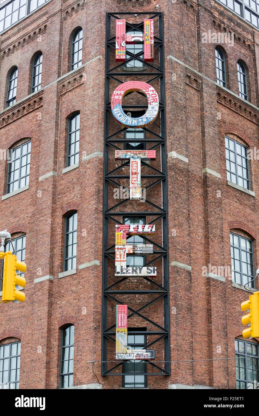 Stati Uniti, New York, Brooklyn, Williamsburg quartiere il Wythe Hotel Immagini Stock