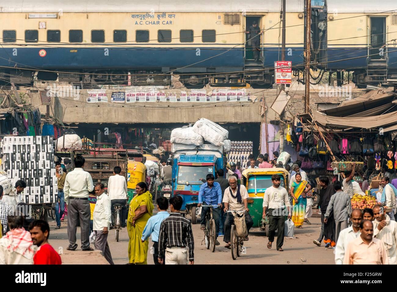 India, nello stato di Uttar Pradesh, Agra, scene di strada Immagini Stock