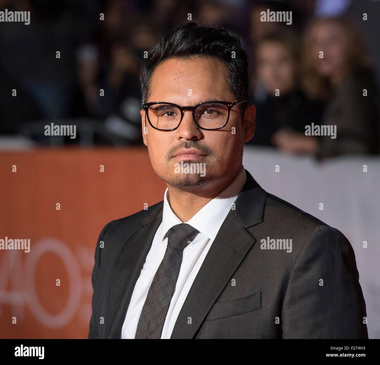 Attore Michael Peña assiste la premiere mondiale per il marziano al Toronto International Film Festival al Immagini Stock