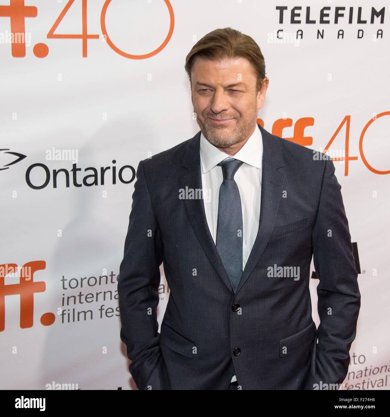 Attore Sean Bean assiste la premiere mondiale per il marziano al Toronto International Film Festival al Roy Thomson Immagini Stock