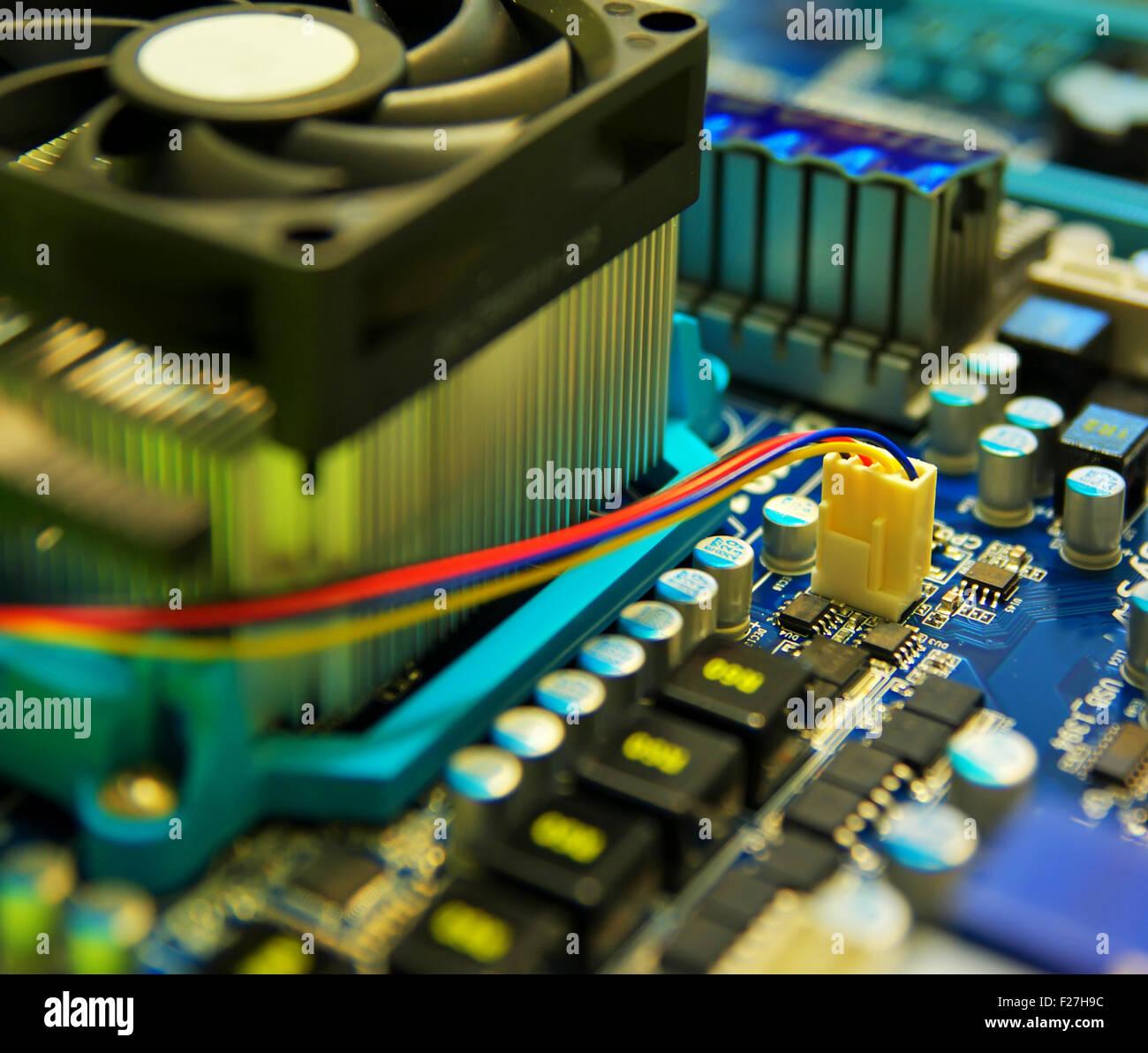 Calcolatore elettronico dispositivo. Profondità di campo. Immagini Stock