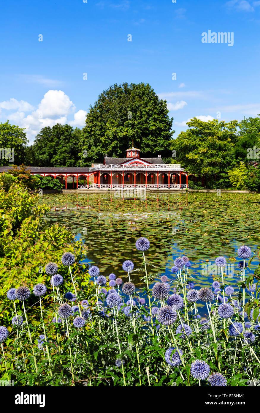 Il Caseificio cinese a Woburn Abbey, Woburn, Bedfordshire, England, Regno Unito Immagini Stock