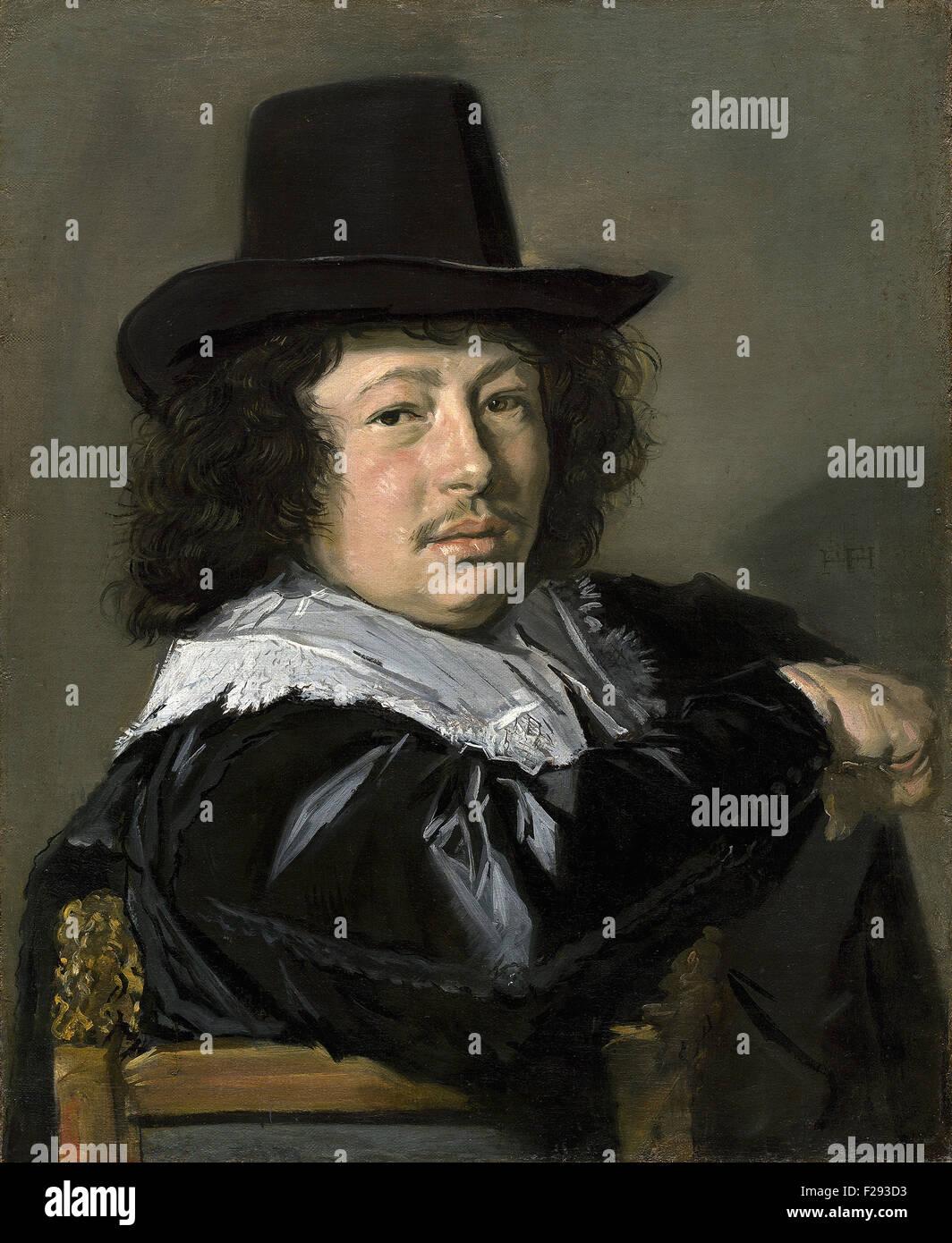 Frans Hals - Ritratto di un giovane uomo 10 Immagini Stock