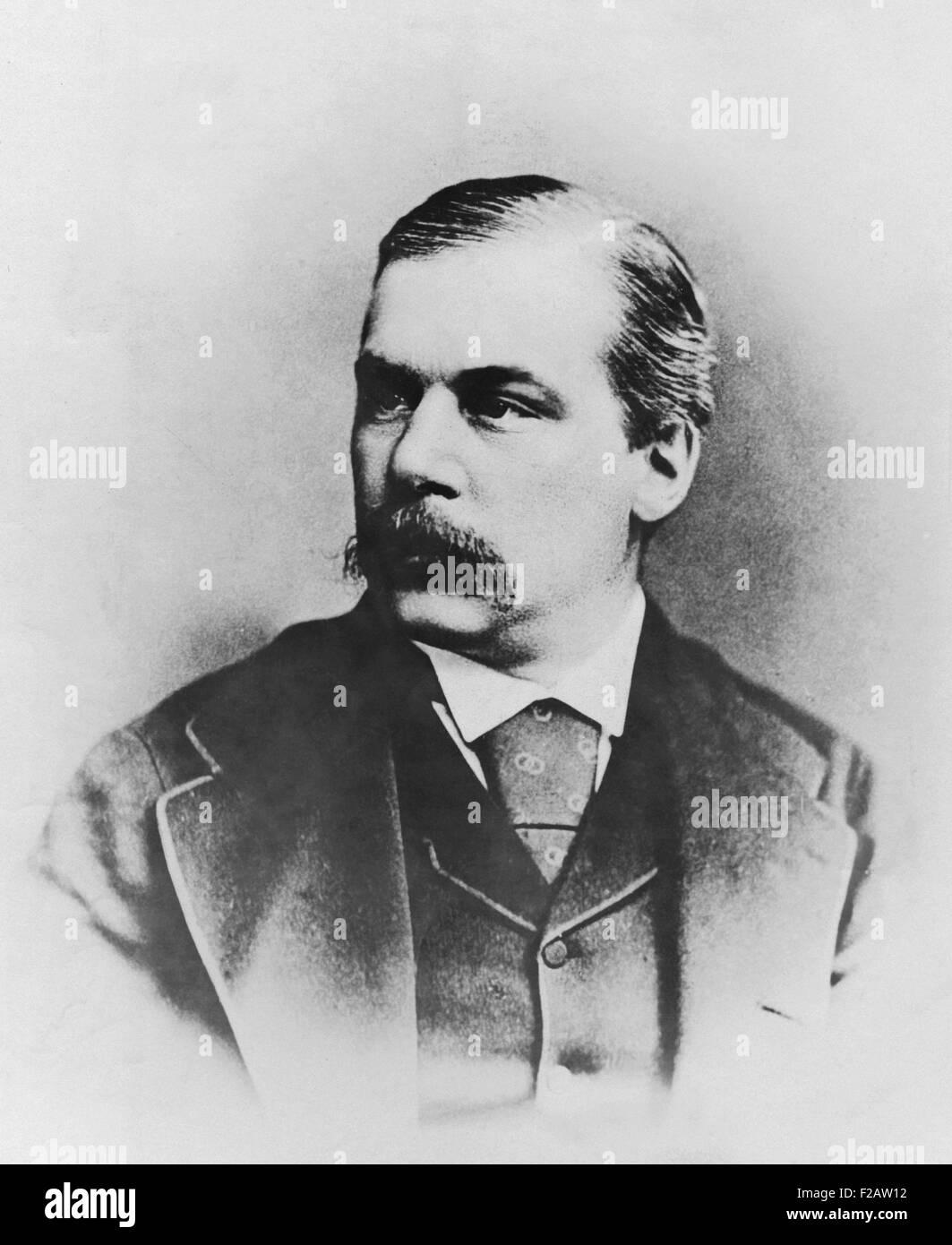 John Pierpont Morgan, ca. 1880. Dal 1871 al 1884 J.P. Morgan è stato un partner con il Drexel di Filadelfia Immagini Stock