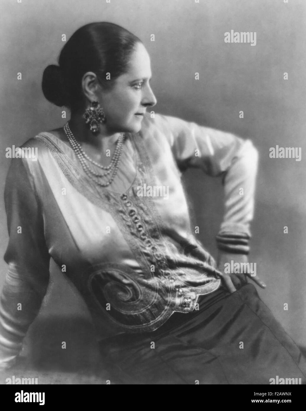 """Helena Rubenstein nel 1930, anno del suo libro, """"l'arte della bellezza femminile """" è stato pubblicato. Immagini Stock"""
