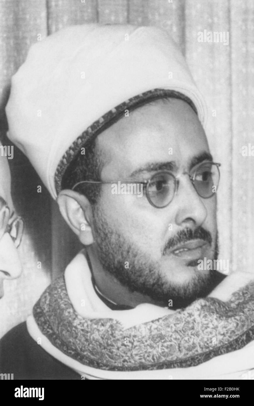 Il principe Sayf Al-Islam Abdullah ha condannato per la rivolta contro il re Sayf al-Islam Ahmad. Marzo 11, 1955. Immagini Stock