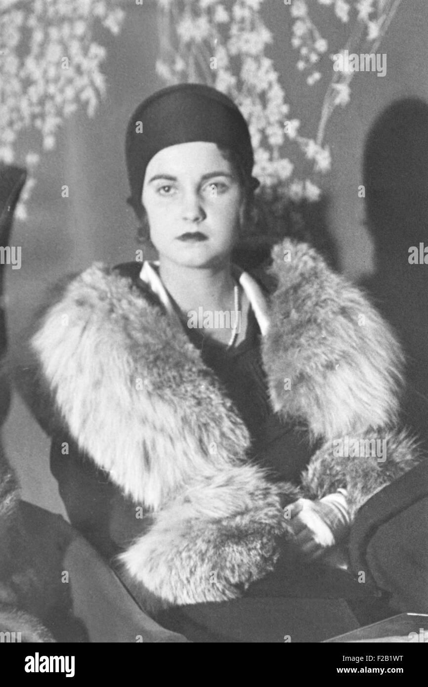 Barbara Woolworth Hutton, nel 1931 all'età 19. Ella era l'unico bambino di Edna Woolworth, una figlia Immagini Stock