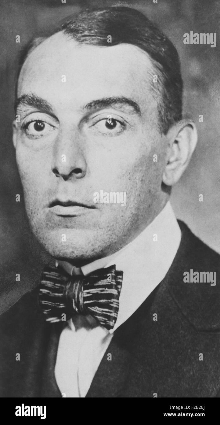 Ring Lardner, (Ringgold Wilmer Lardner) ca. 1930. Egli era un American sports columnist e breve storia scrittore. Immagini Stock
