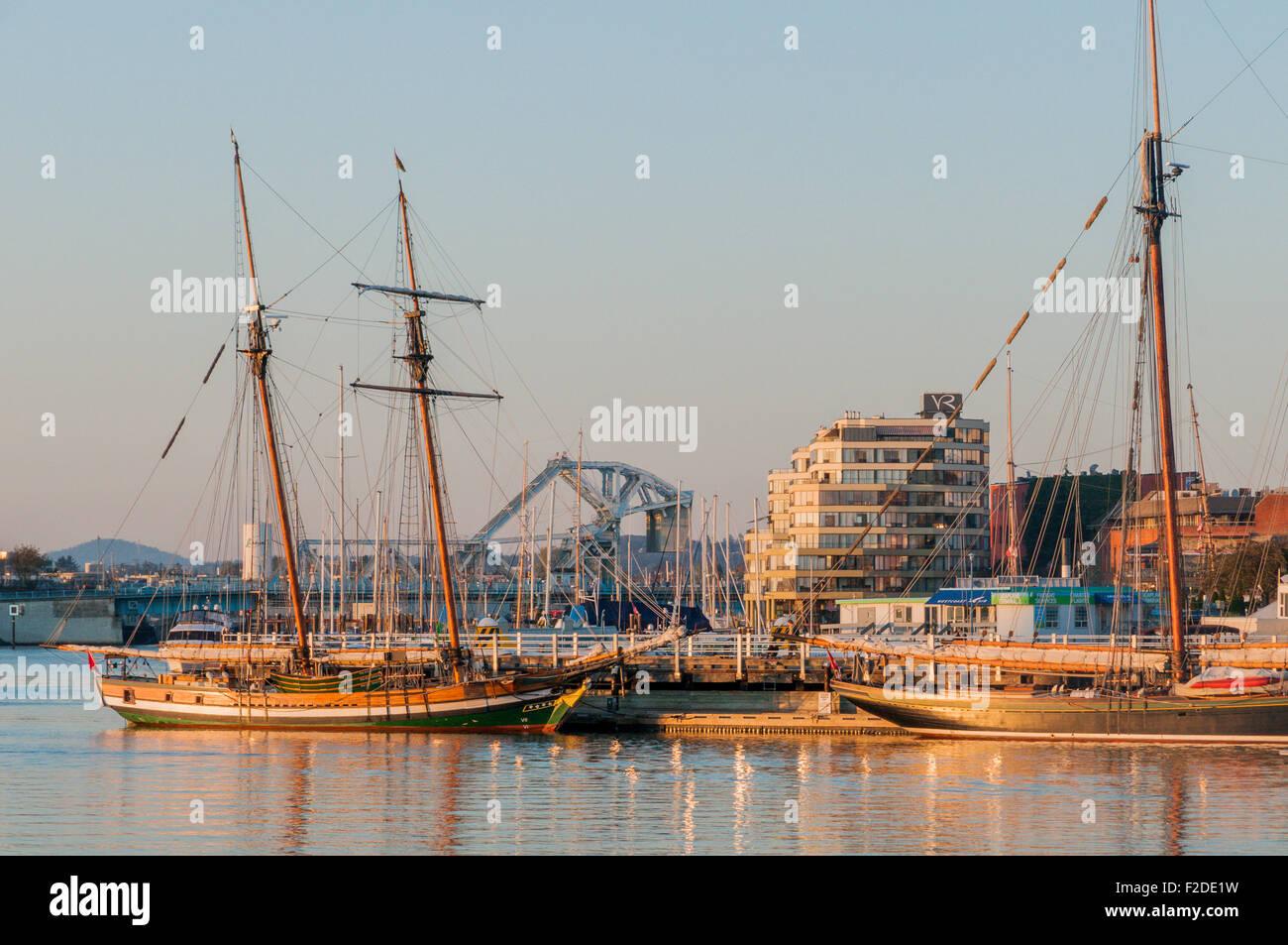 Tall Ships, porto interno, Victoria, British Columbia, Canada Immagini Stock