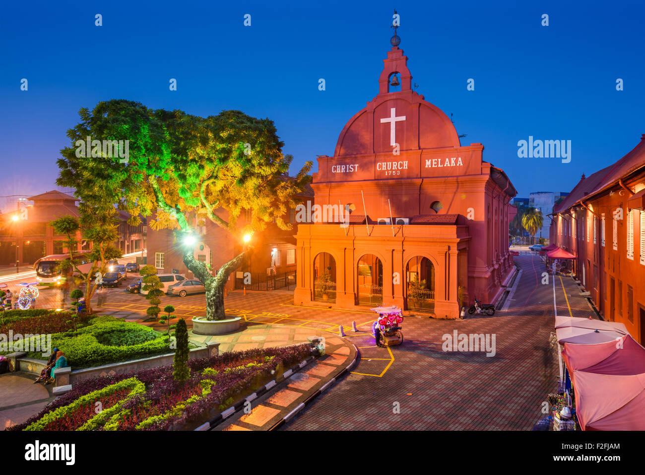 La Chiesa di Cristo Melaka in Malacca, Malesia. Immagini Stock