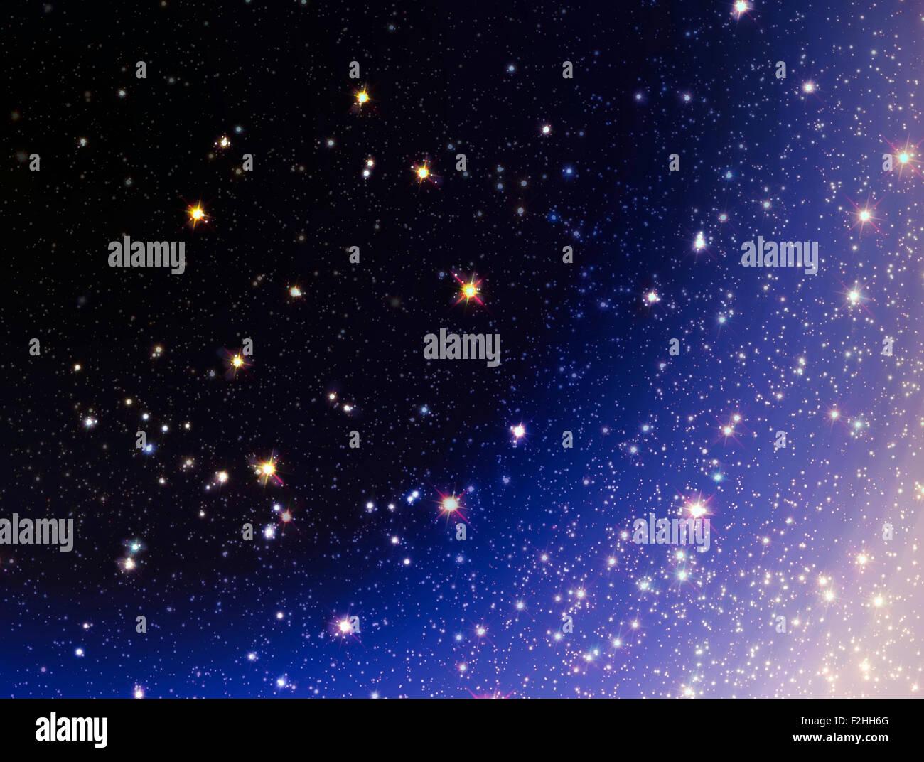 Stelle di sfondo, spazio texture con molte stelle Immagini Stock