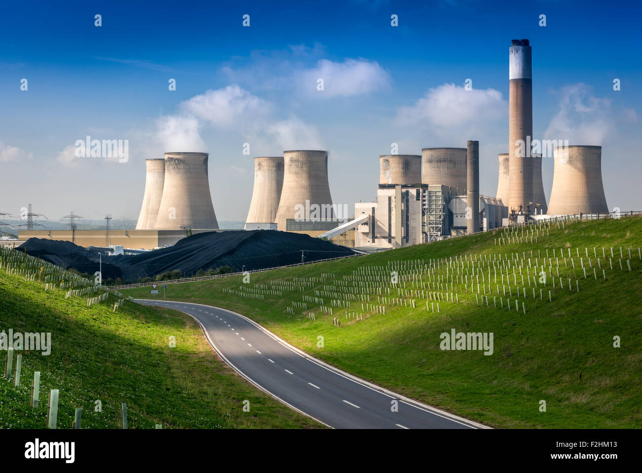 Ratcliffe-su-Soar Power Station Immagini Stock