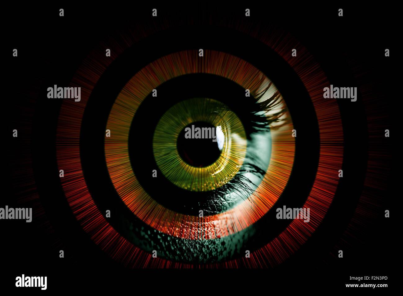 Occhio umano - abstract vision concept Immagini Stock