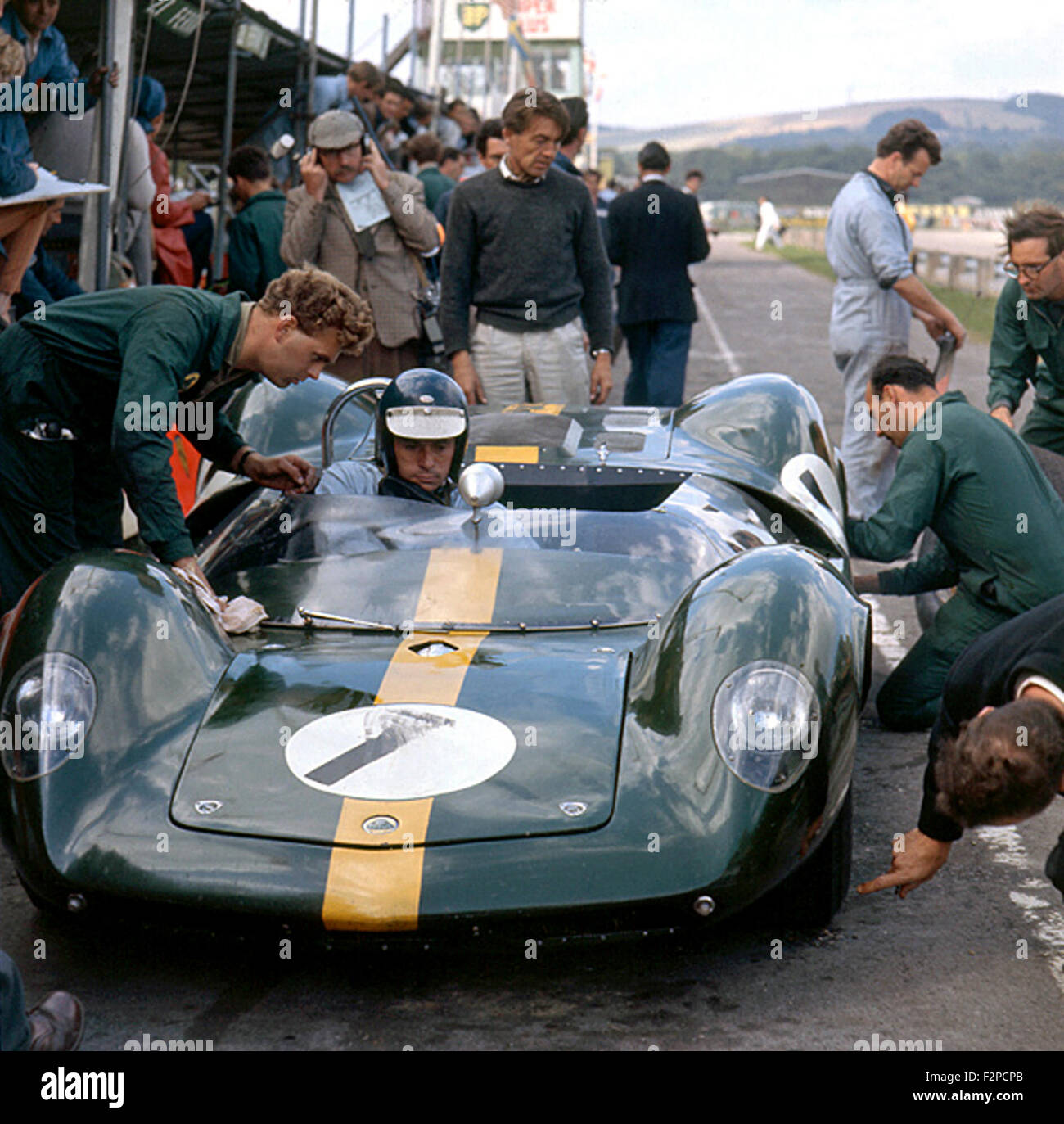 Jim Clark in una Lotus 30 Goodwood Tourist Trophy 1964 Immagini Stock