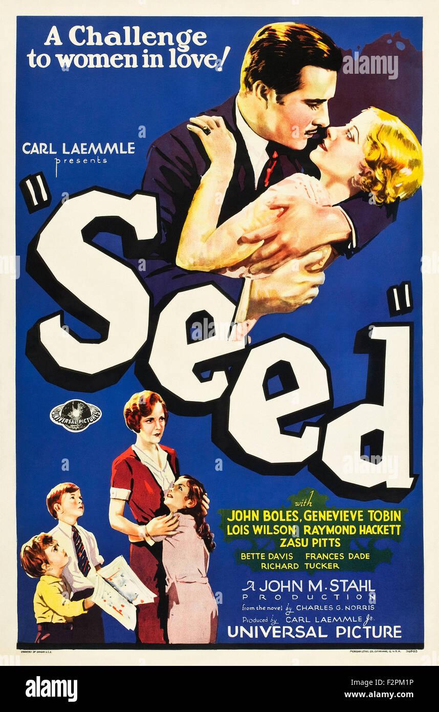 Seme (1931) - poster del filmato Immagini Stock