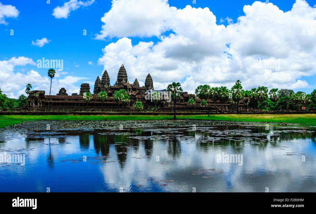 Le antiche rovine di Angkor Wat Immagini Stock