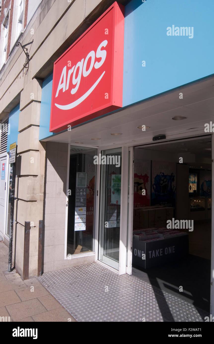 Argos uk rivenditore catalogo shop negozi Immagini Stock