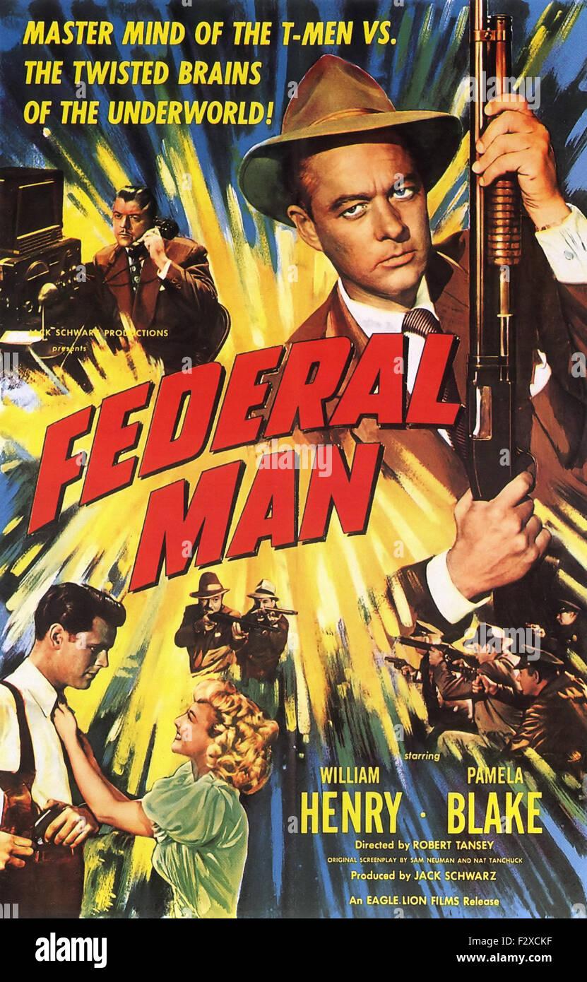 Uomo federale - poster del filmato Immagini Stock