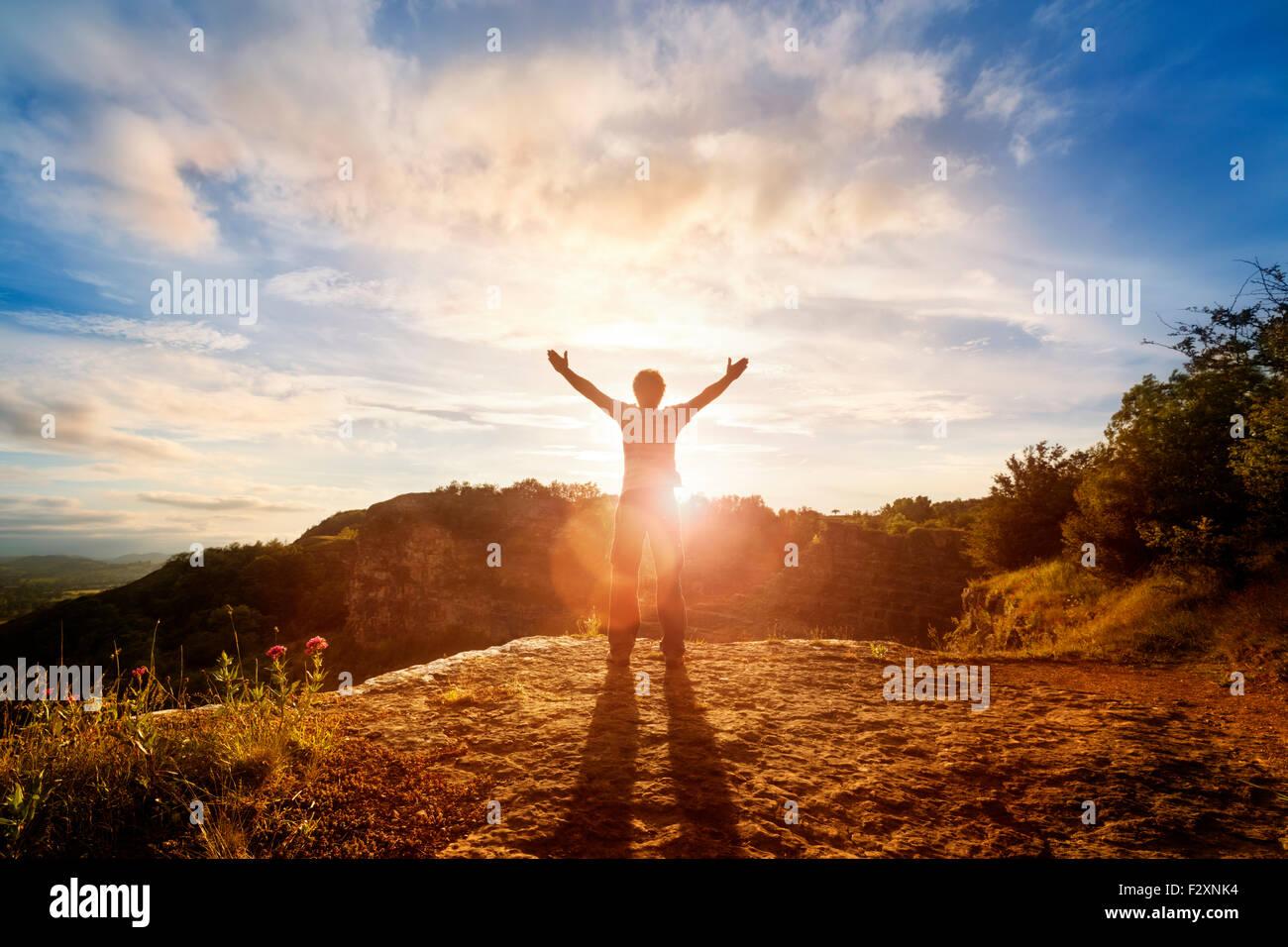 Adorazione e lode Immagini Stock