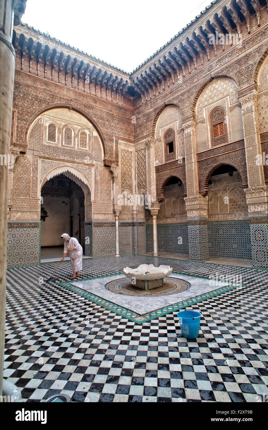 Medersa Attarine, Fez, in Marocco Foto Stock