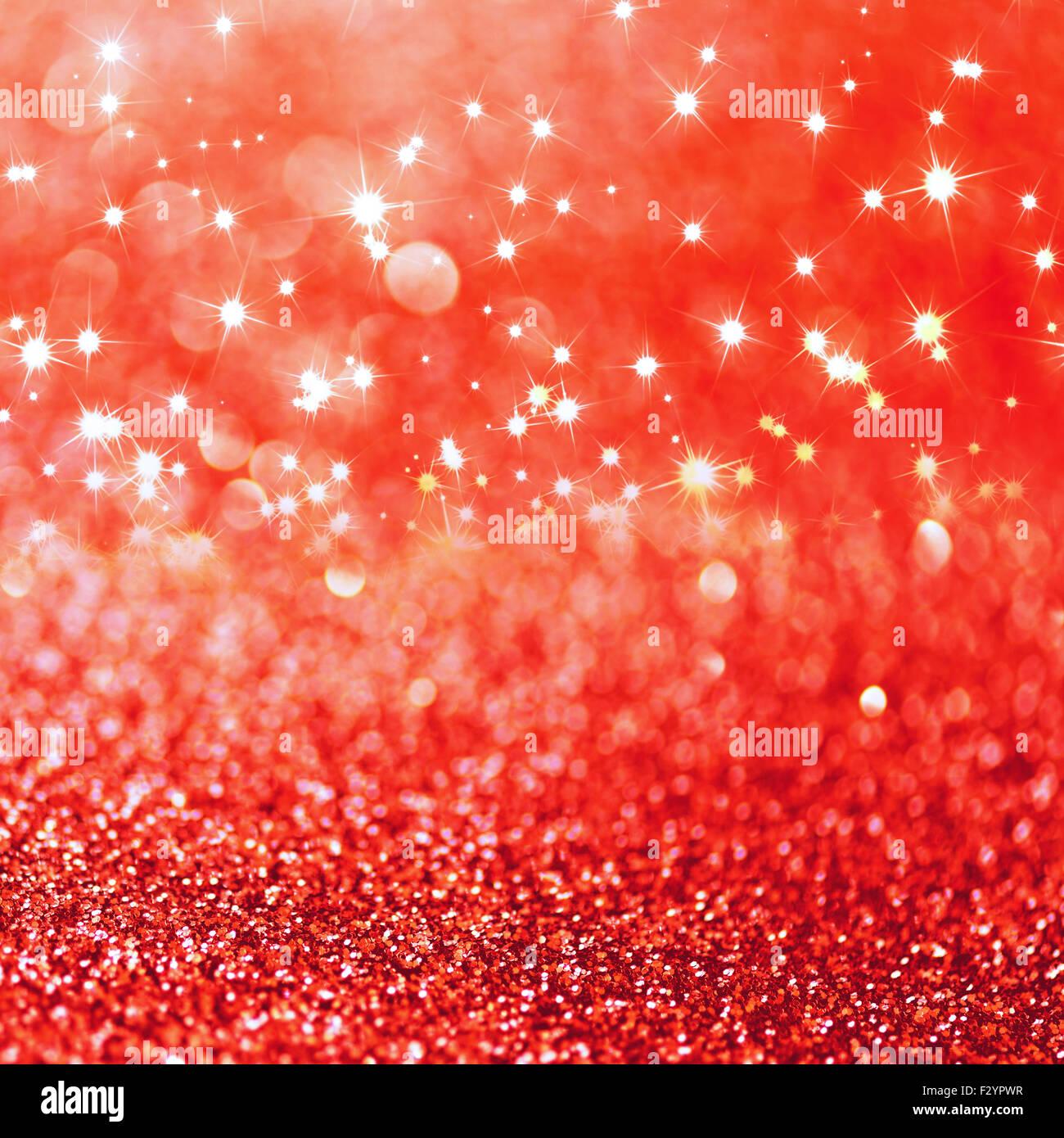 Rosso Glitter Sfocati Sfondo Con Spazio Di Copia Foto Immagine