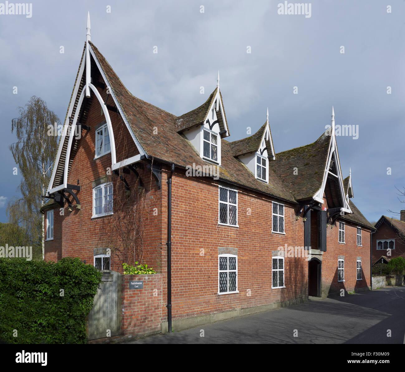 Patrixbourne Kent. Oast casa di mattoni rossi Immagini Stock