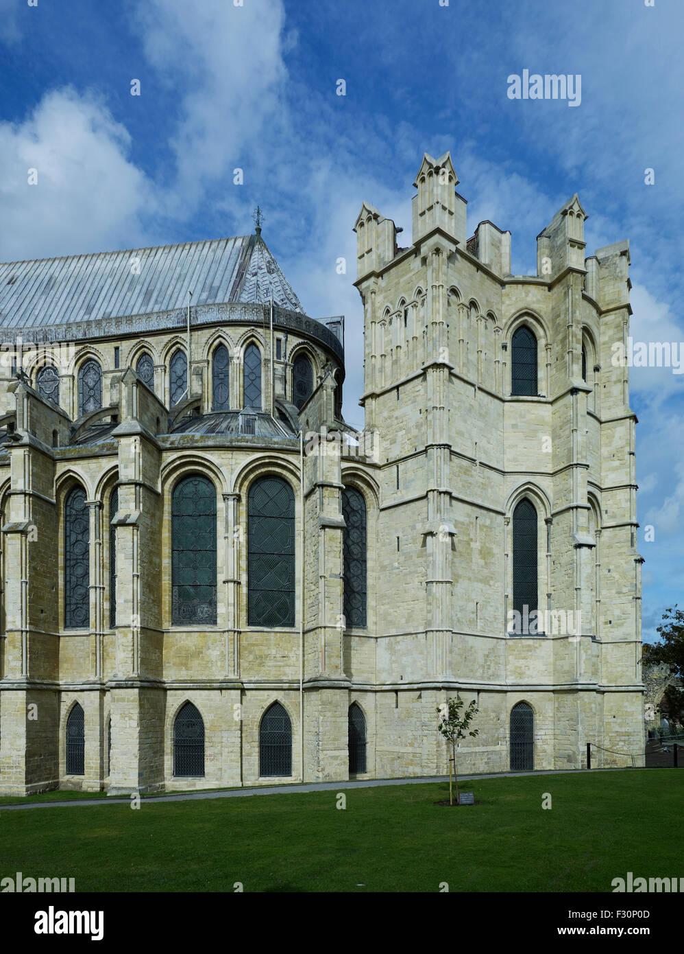 La Cattedrale di Canterbury Kent. Corona all'estremità est Immagini Stock