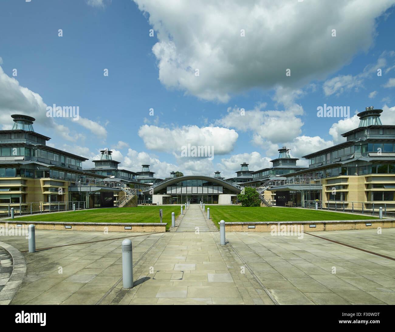 Cambridge University Center per studi matematici di Edward Cullinan Architects Immagini Stock