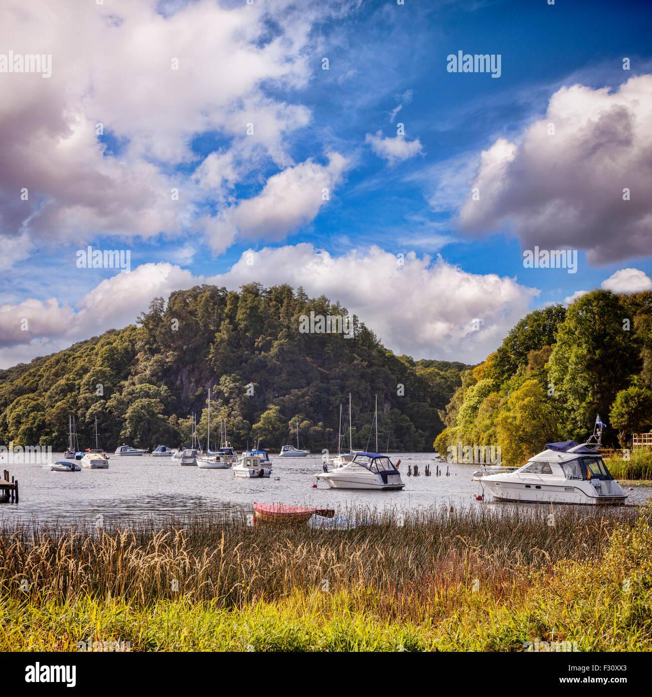 Porto di Balmaha, Loch Lomond, Stirlingshire, Scotland, Regno Unito. Immagini Stock
