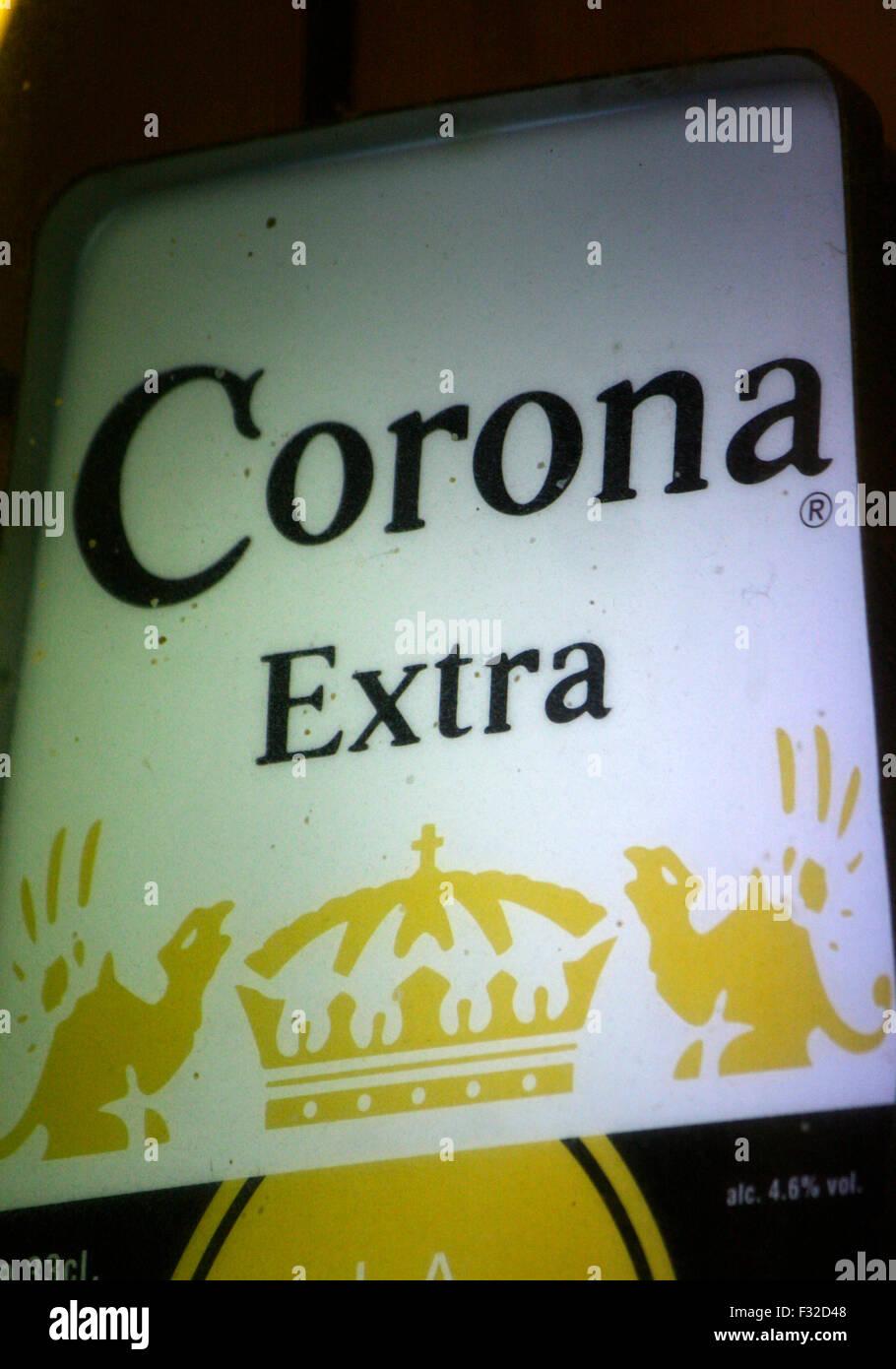Markenname: 'Corona Extra', Berlino. Immagini Stock