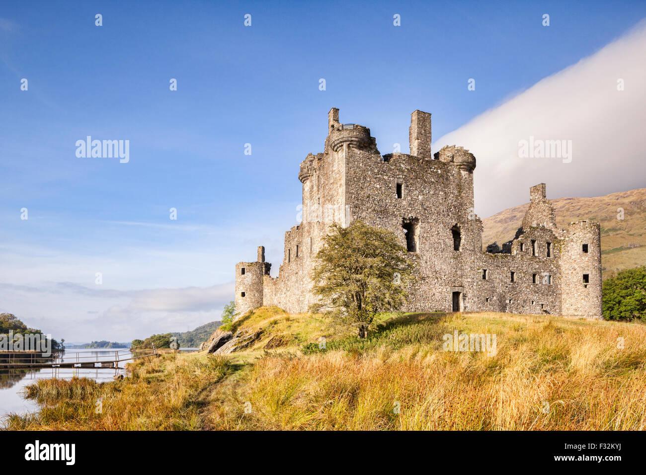 Kilchurn Castle e Loch Awe, Argyll and Bute, Scotland, Regno Unito. Immagini Stock