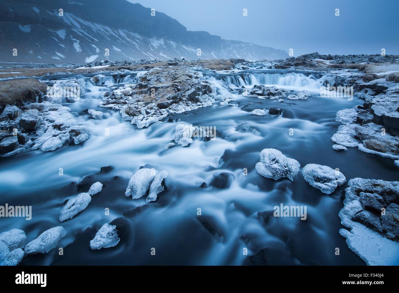 Skaftartunga, Islanda Immagini Stock