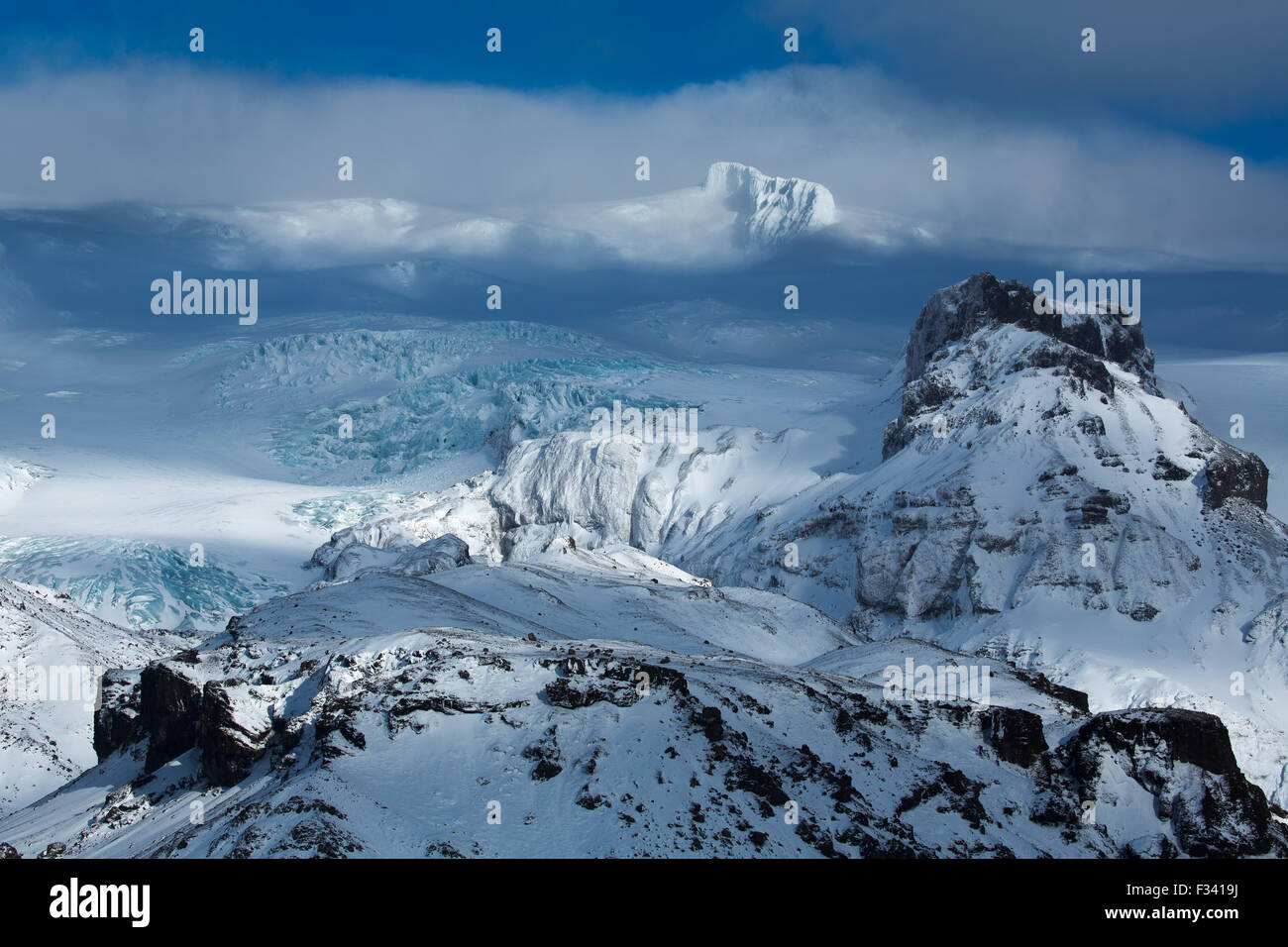 Hvannadalshnúkur, Islanda Immagini Stock