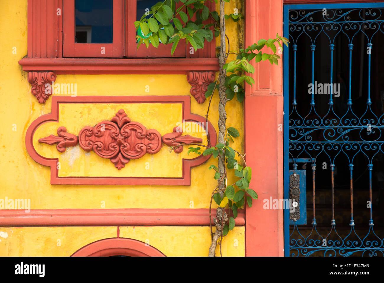 Architettura coloniale nel centro storico di Salvador de Bahia, Brasile Immagini Stock
