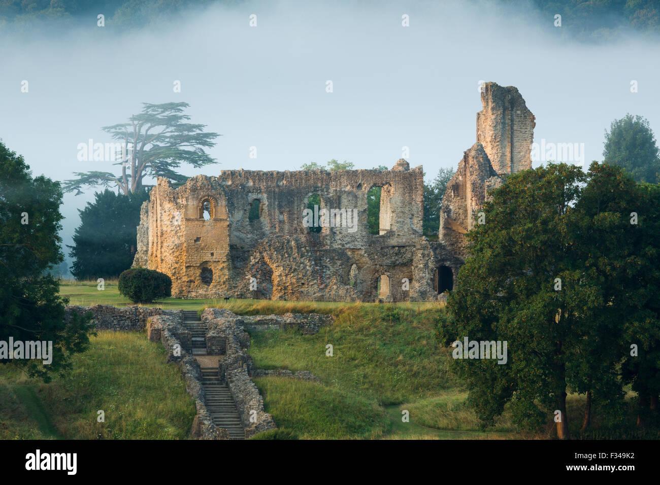 Old Sherborne Castle, Sherborne, Dorset, England, Regno Unito Immagini Stock