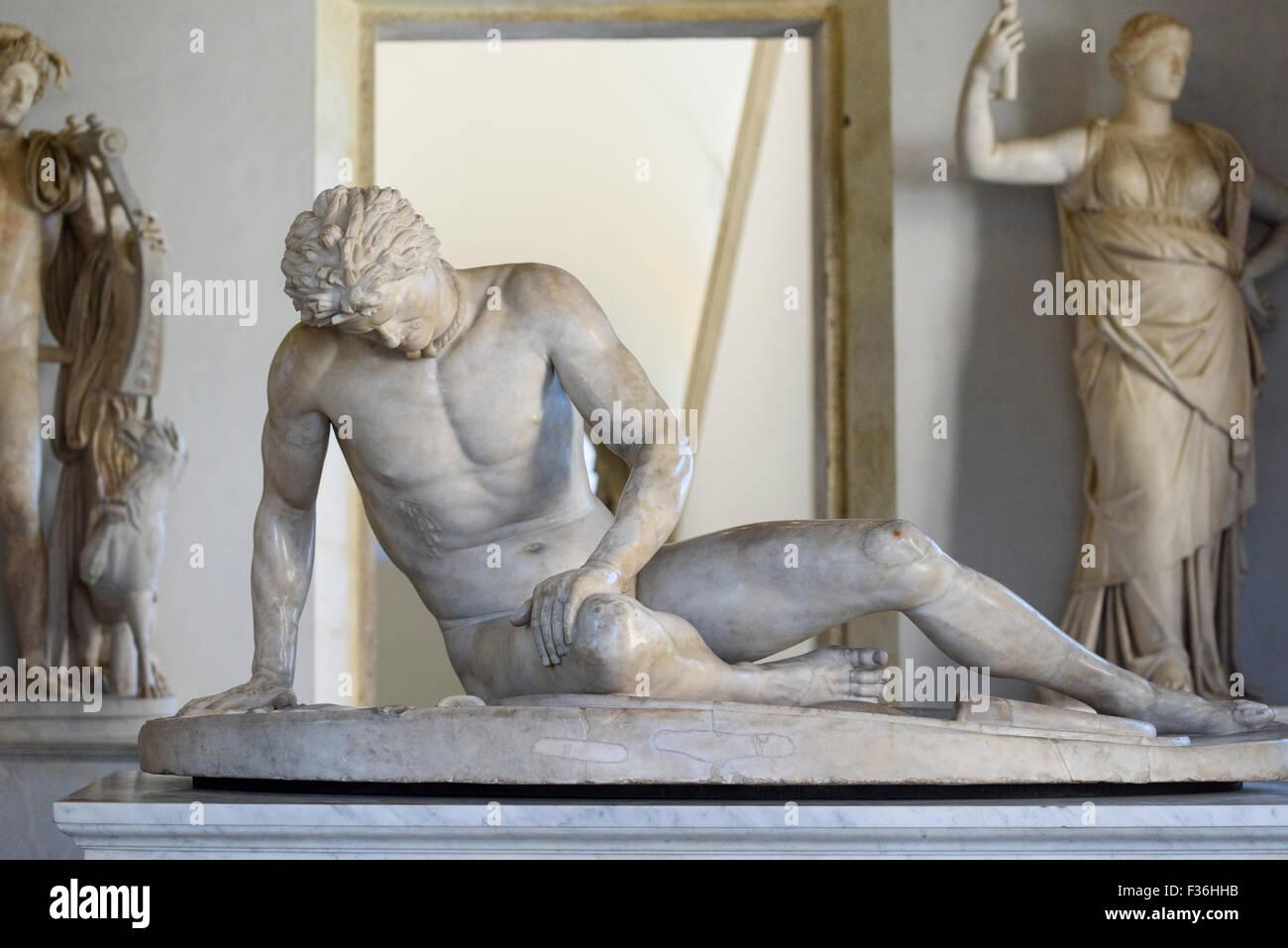 Roma. L'Italia. Il Museo Capitolino. Il Galata morente (Galata), copia romana di un originale greco lavoro della Immagini Stock