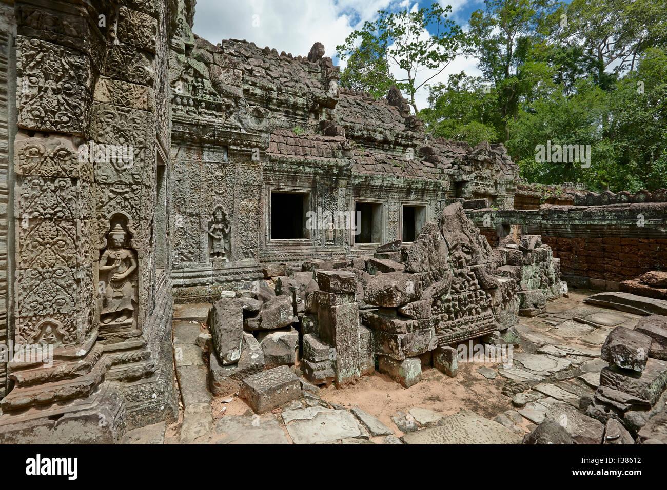 Preah Khan temple. Parco Archeologico di Angkor, Siem Reap Provincia, in Cambogia. Immagini Stock