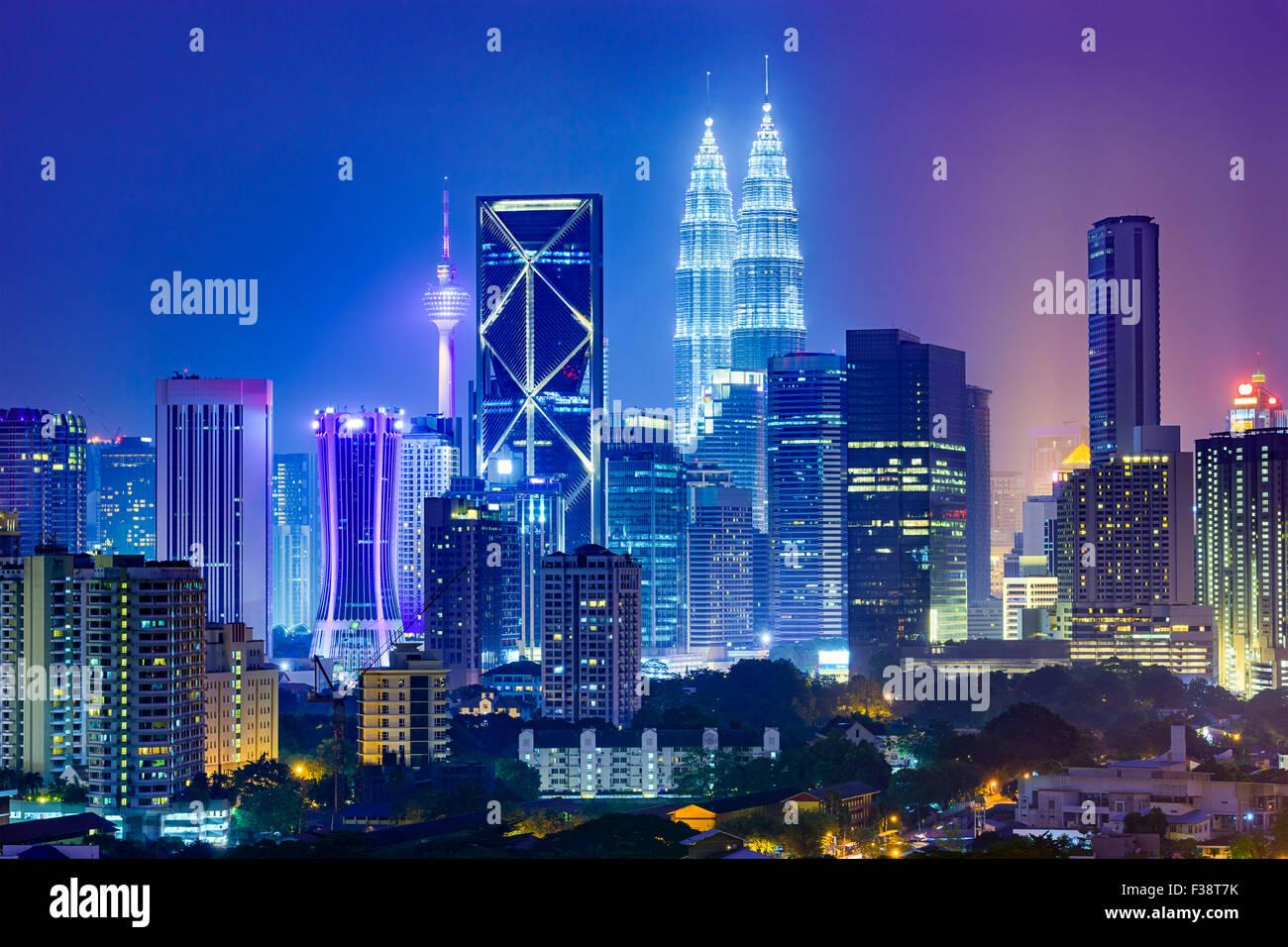 Kuala Lumpur in Malesia lo skyline della citta'. Immagini Stock