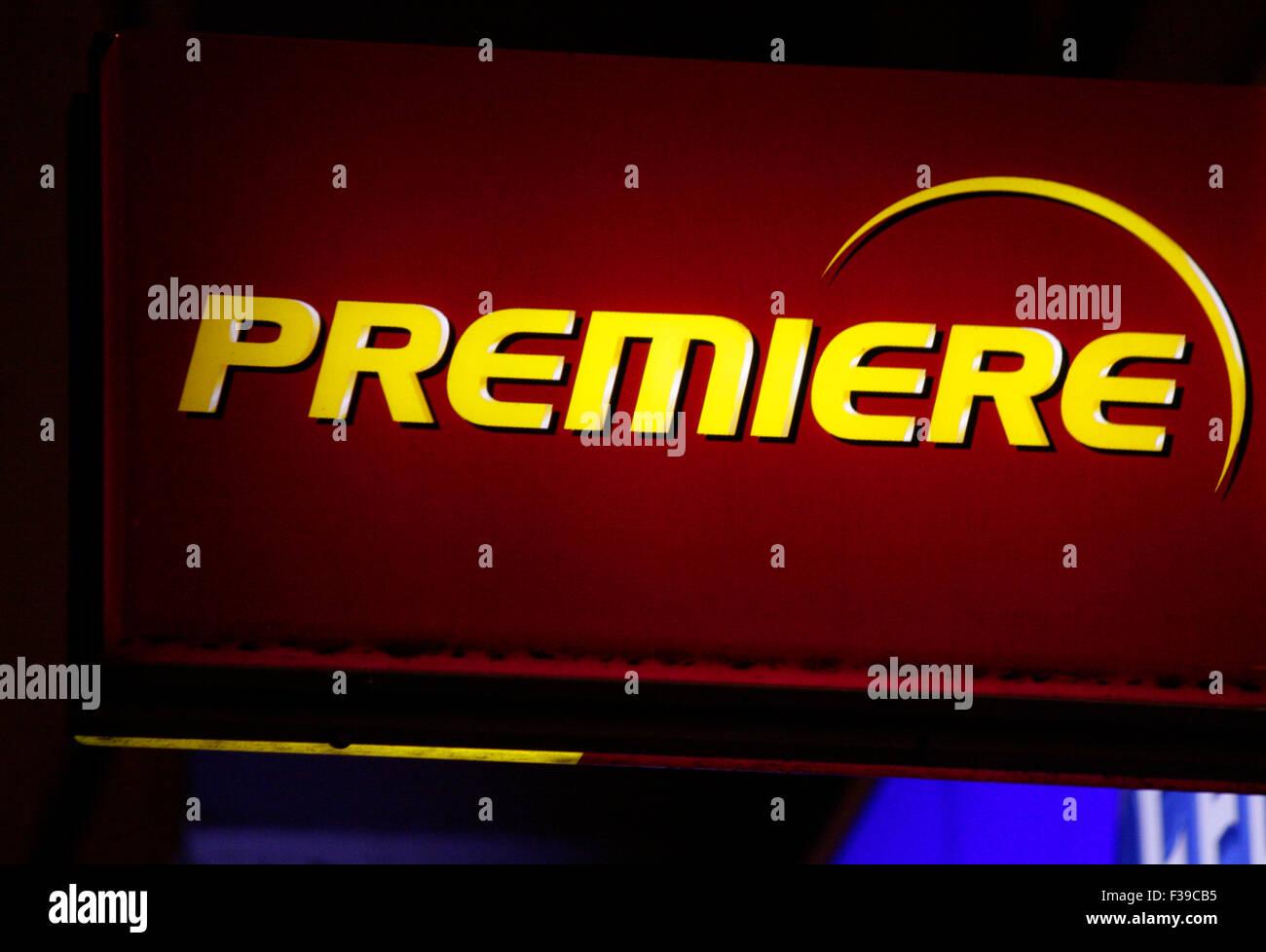 """Markenname: """"Premiere"""", Berlino. Immagini Stock"""