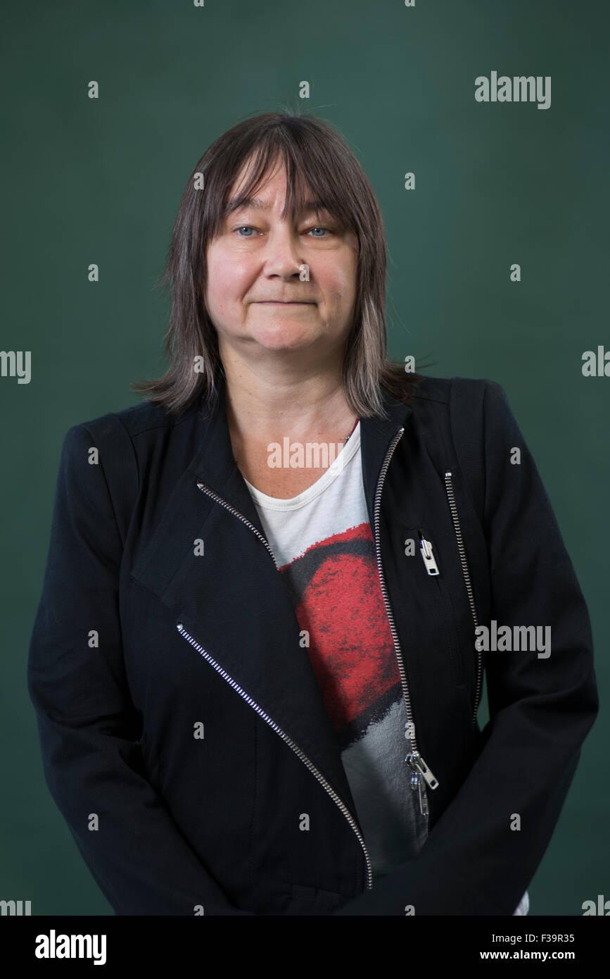 Scrittore scozzese Ali Smith CBE FRSL. Immagini Stock