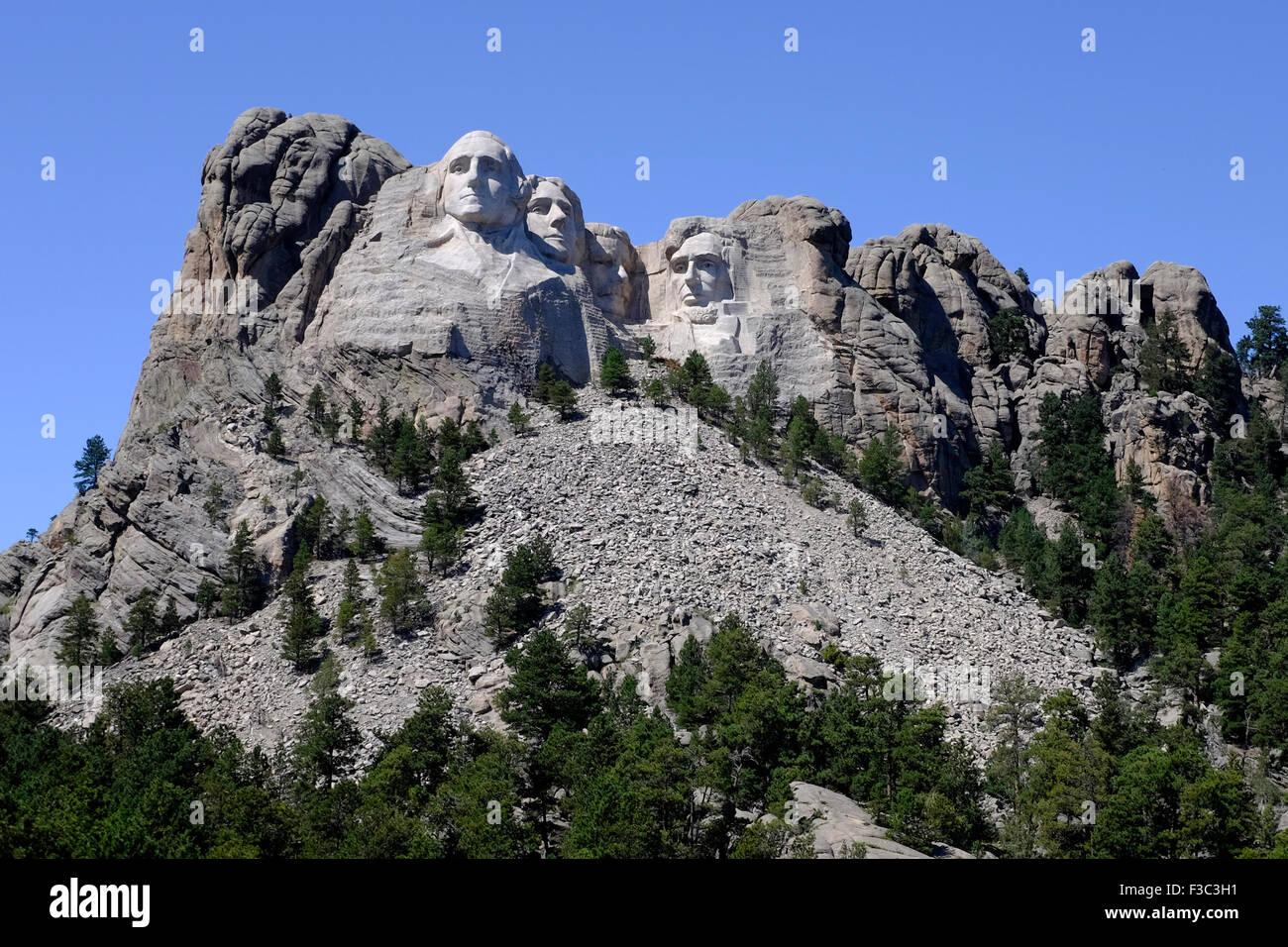 Il monte Rushmore Monumento Nazionale vicino a Keystone, Dakota del Sud Immagini Stock