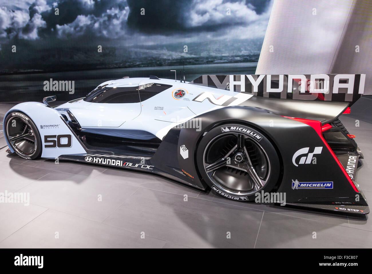 Hyundai Muroc Gran Turismo Super Car al IAA International Motor Show 2015 Immagini Stock