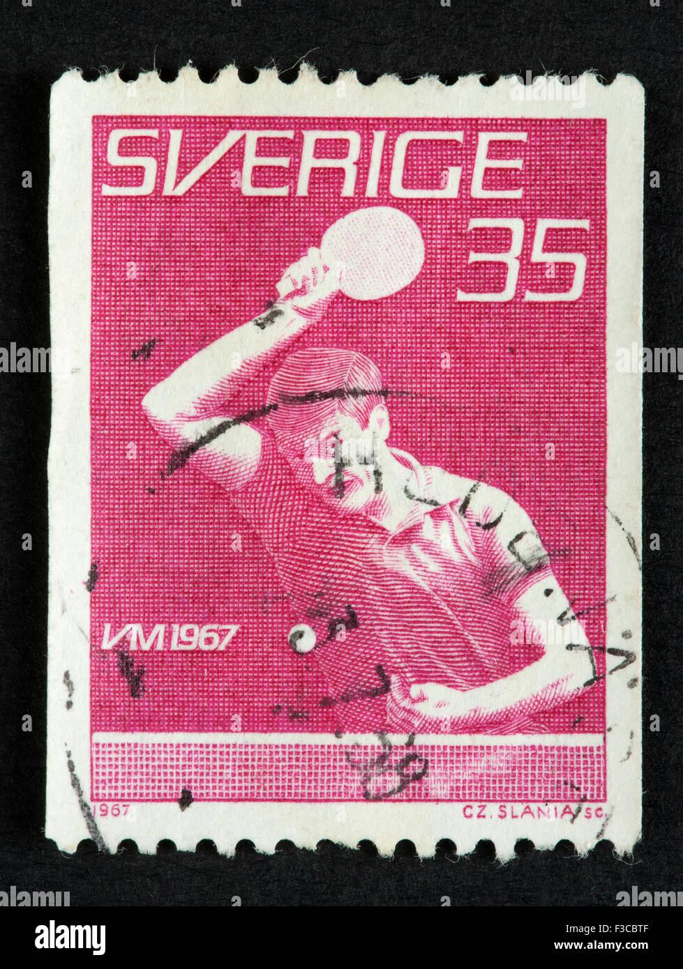 Swedish francobollo Immagini Stock